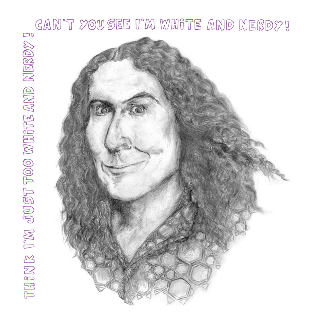 'Weird Al Yankovic' White and Nerdy Lyrics Keren Zorn Giclée Print